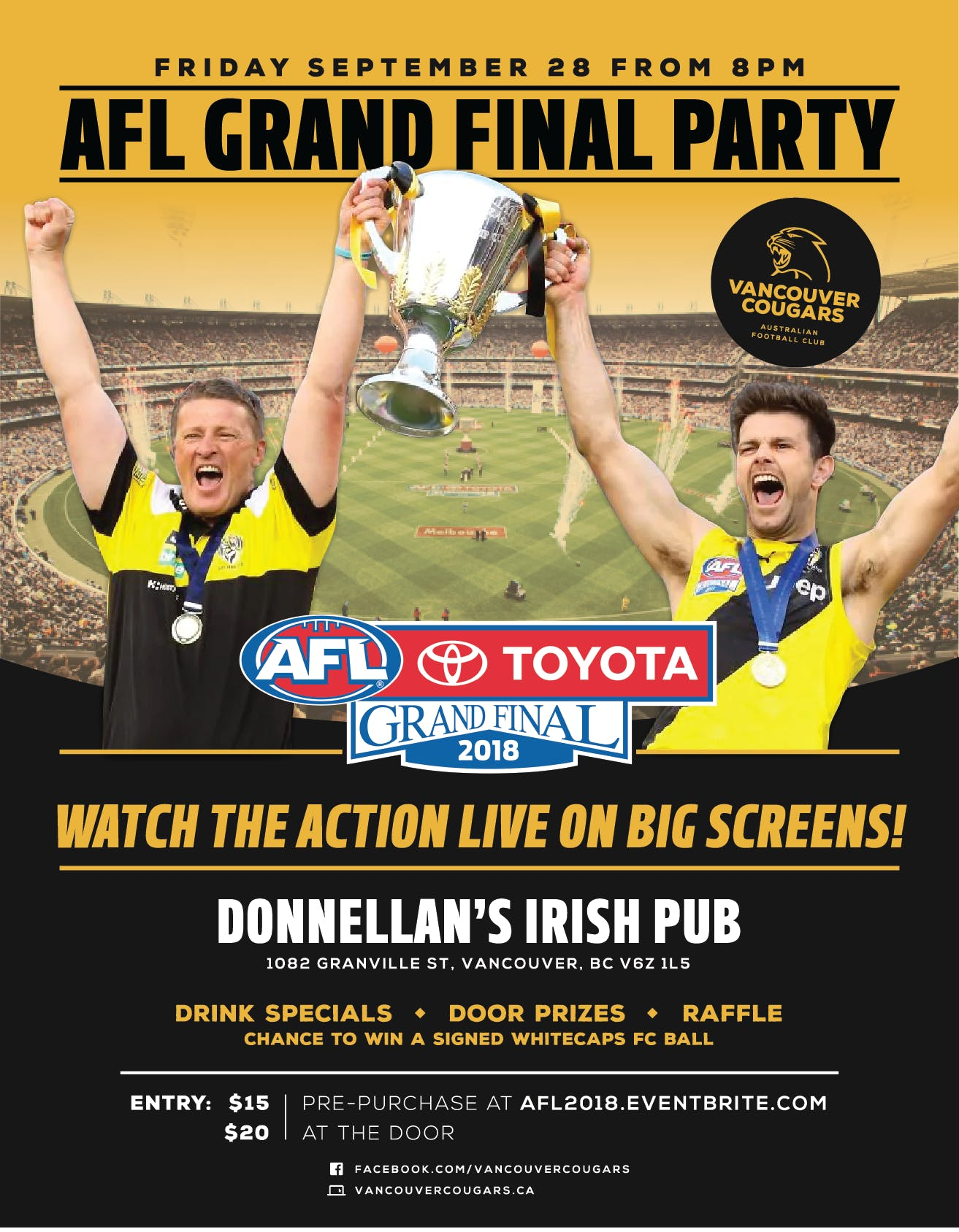 2018 AFL GRAND FINAL PARTY - 29 SEP 2018