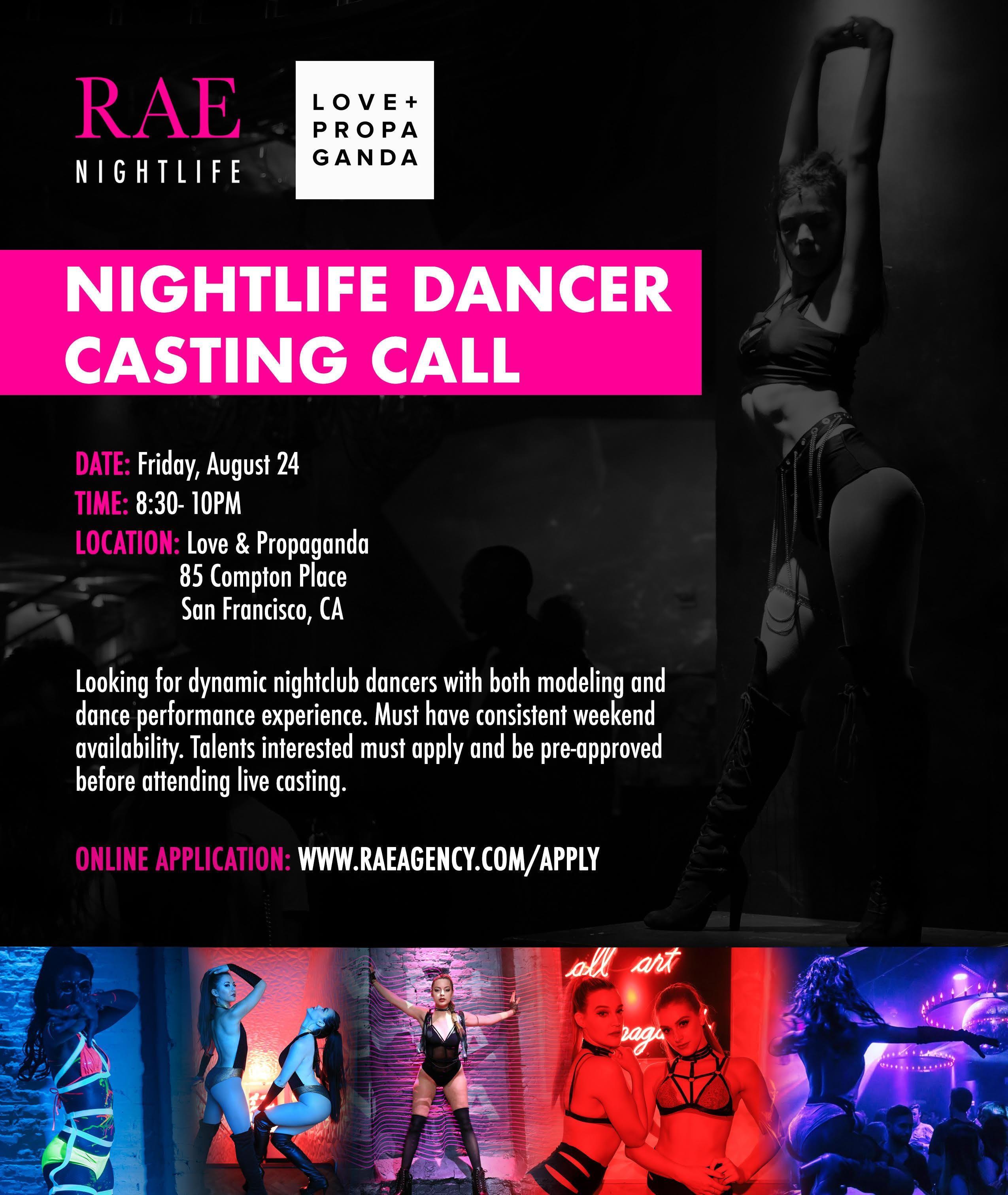 Live Gogo Dancer Casting Call @Love & Propaga