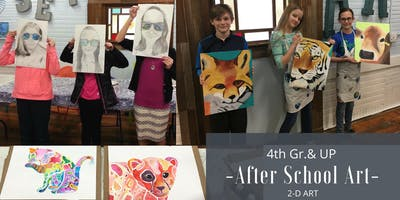 January   4th Gr. & Up After School Art   2-D: Acrylic Painting