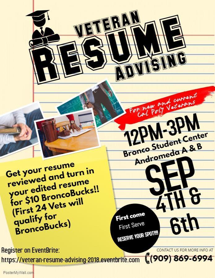 veteran resume advising