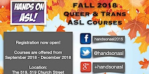 Fall 2018 Queer & Trans ASL Courses