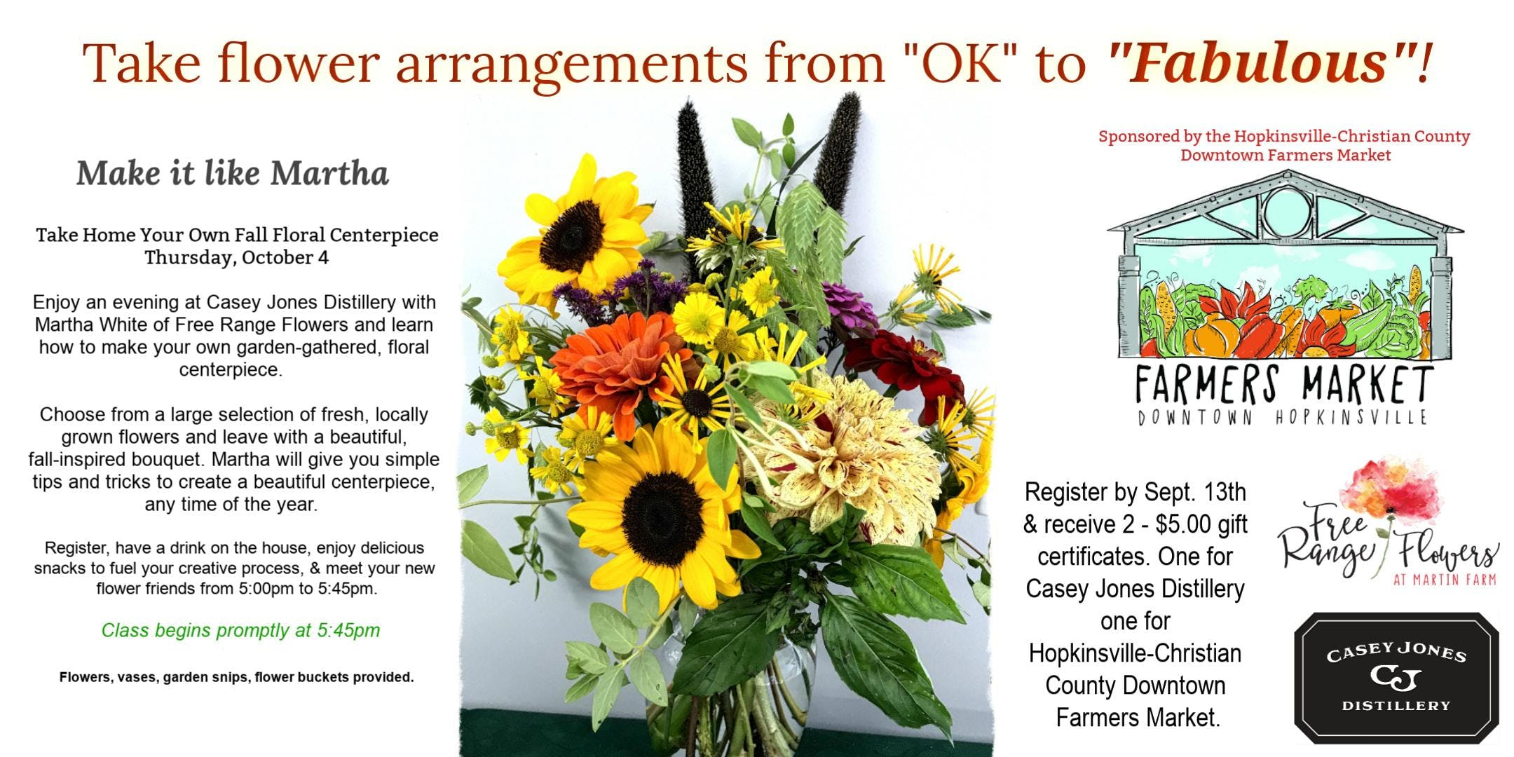 Take flower arrangements from ok to fabulous 4 oct 2018 take flower arrangements from ok to fabulous izmirmasajfo