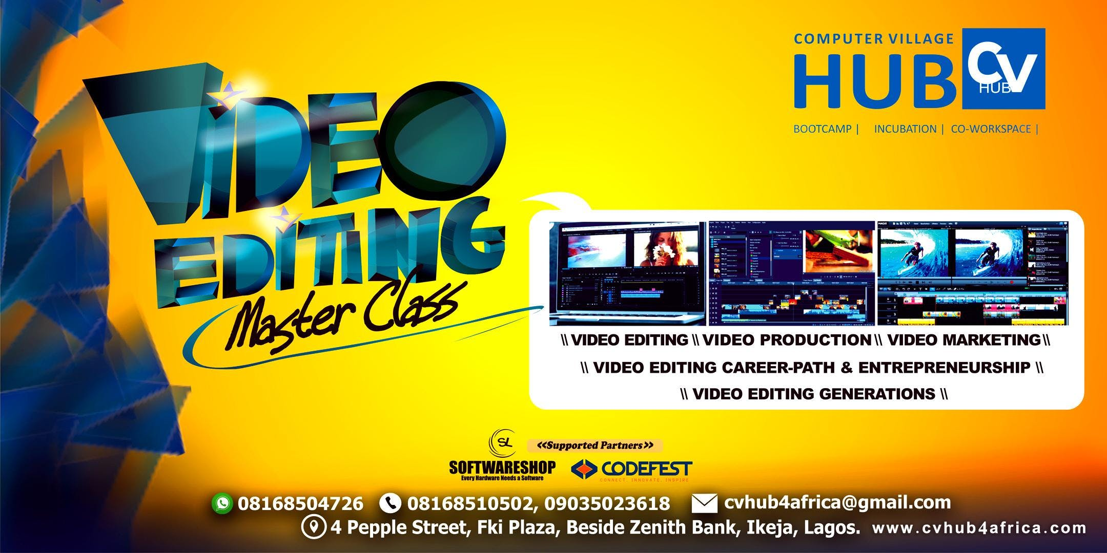 Video Editing Master Class at CVHUB, Lagos
