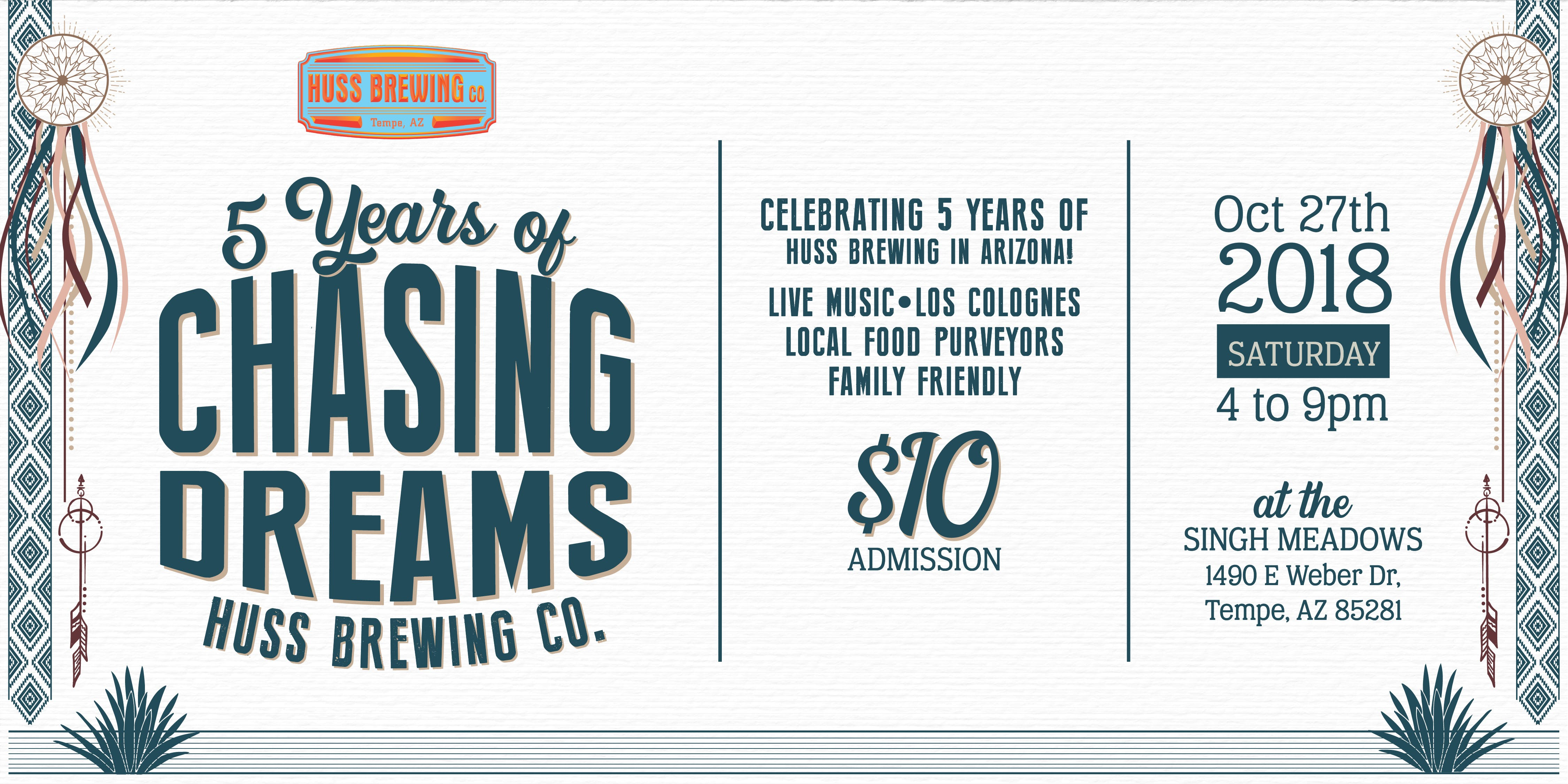 5 Years of Chasing Dreams - Huss Brewing 5 Year Anniversary