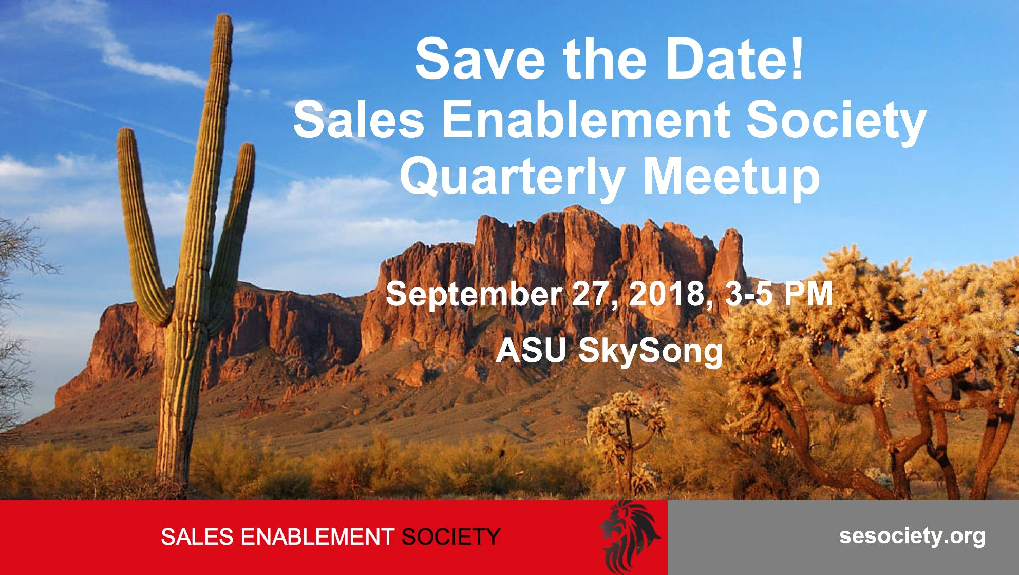Phoenix Sales Enablement Society Chapter September Meetup