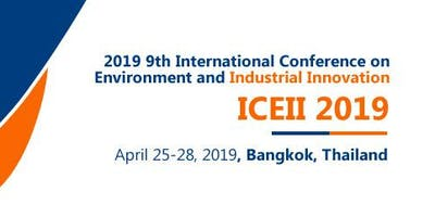 2019 9th International Conference on Environment a