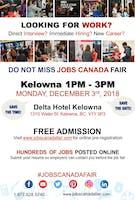 FREE: Kelowna Job Fair – December 3, 2018