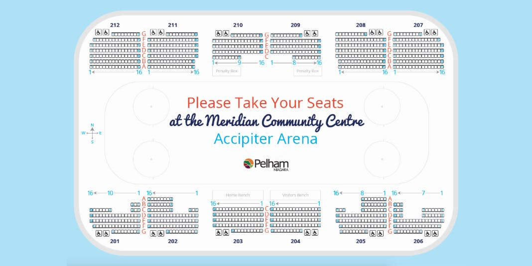 Meridian Community Centre Arena Seat Naming Donation