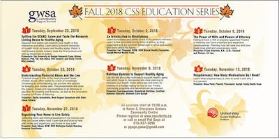 CSS Fall Education Series