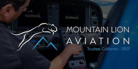 RNAV Mountain Lion Aviation tickets