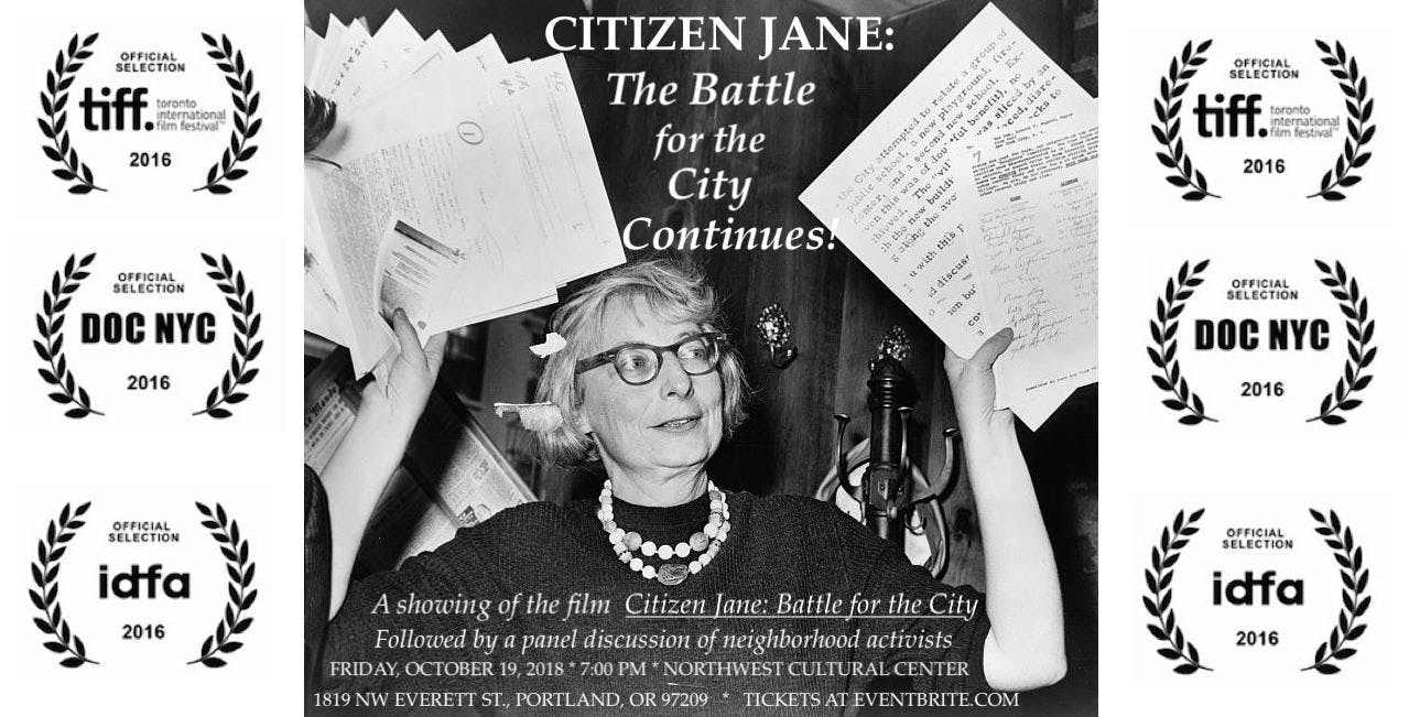 Citizen Jane: The Battle for the City Continu