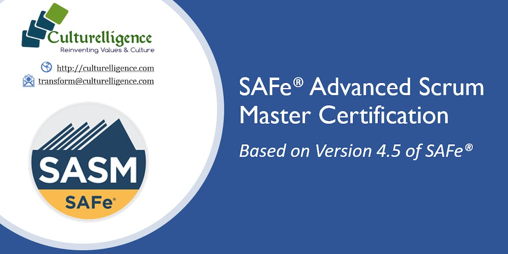 Safe Advanced Scrum Master With Sasm Certification Houston Tx