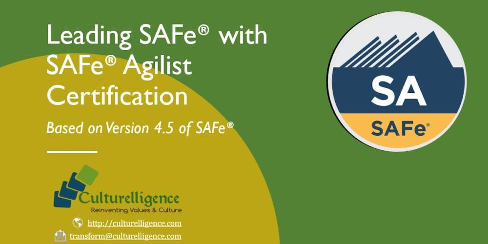 Leading Safe With Safe Agilist Sa Certification Austin Tx Nov