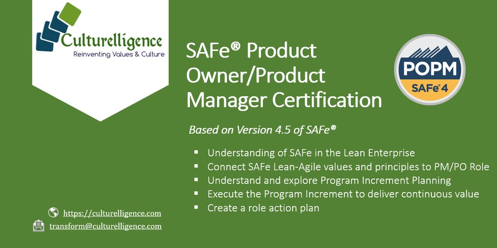 Weekend Safe Product Ownerproduct Manager With Popm Certification