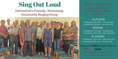 Community Singing Group - Sing Out Loud, Chelmsford - Taster Sessions