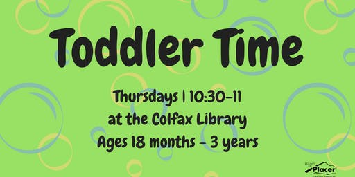 Toddler Time at the Colfax Library