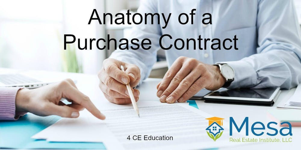 Anatomy of a Purchase Contract (Core Elective) Tickets, Tue, Oct 2 ...