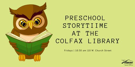 Preschool Storytime at the Colfax Library tickets