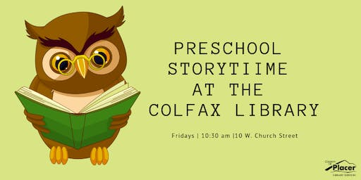 Preschool Storytime at the Colfax Library