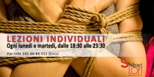 Lezioni individuali di shibari / kinbaku a Treviso