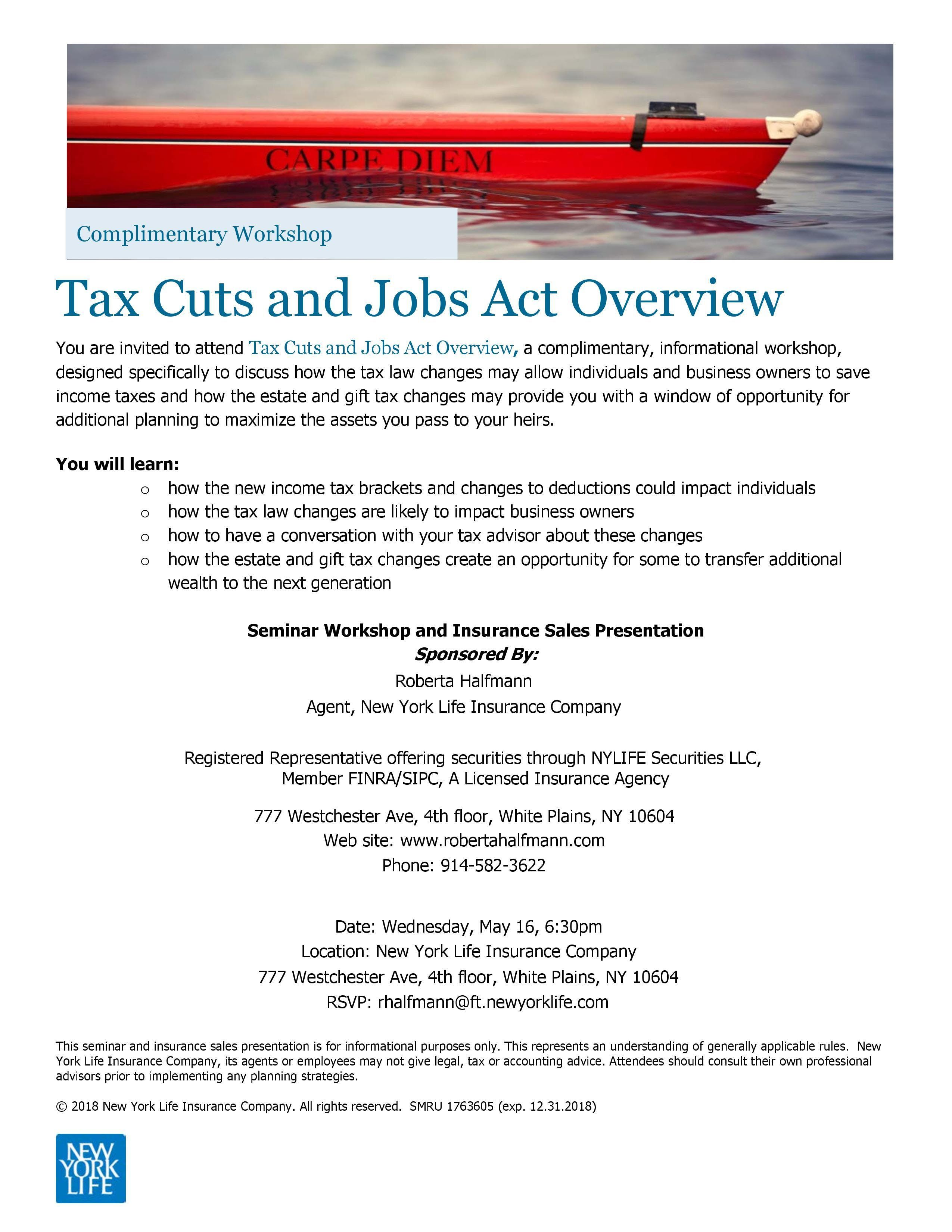 Tax Cuts and Jobs Act Overview