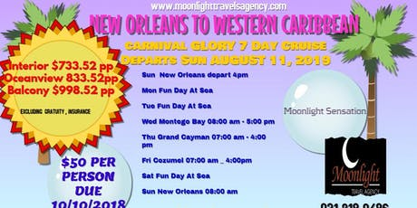 NEW ORLEANS TO WESTERN CARIBBEAN tickets