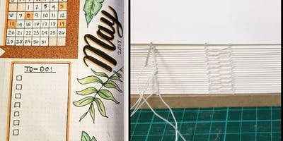 W< WORKSHOP:  Bookbinding and Bullet Journaling with Julie Walls & Amy Sims!