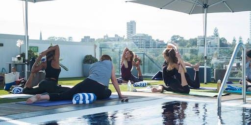 Yogi Vibes: Rooftop Vinyasa & Rooftop Swim