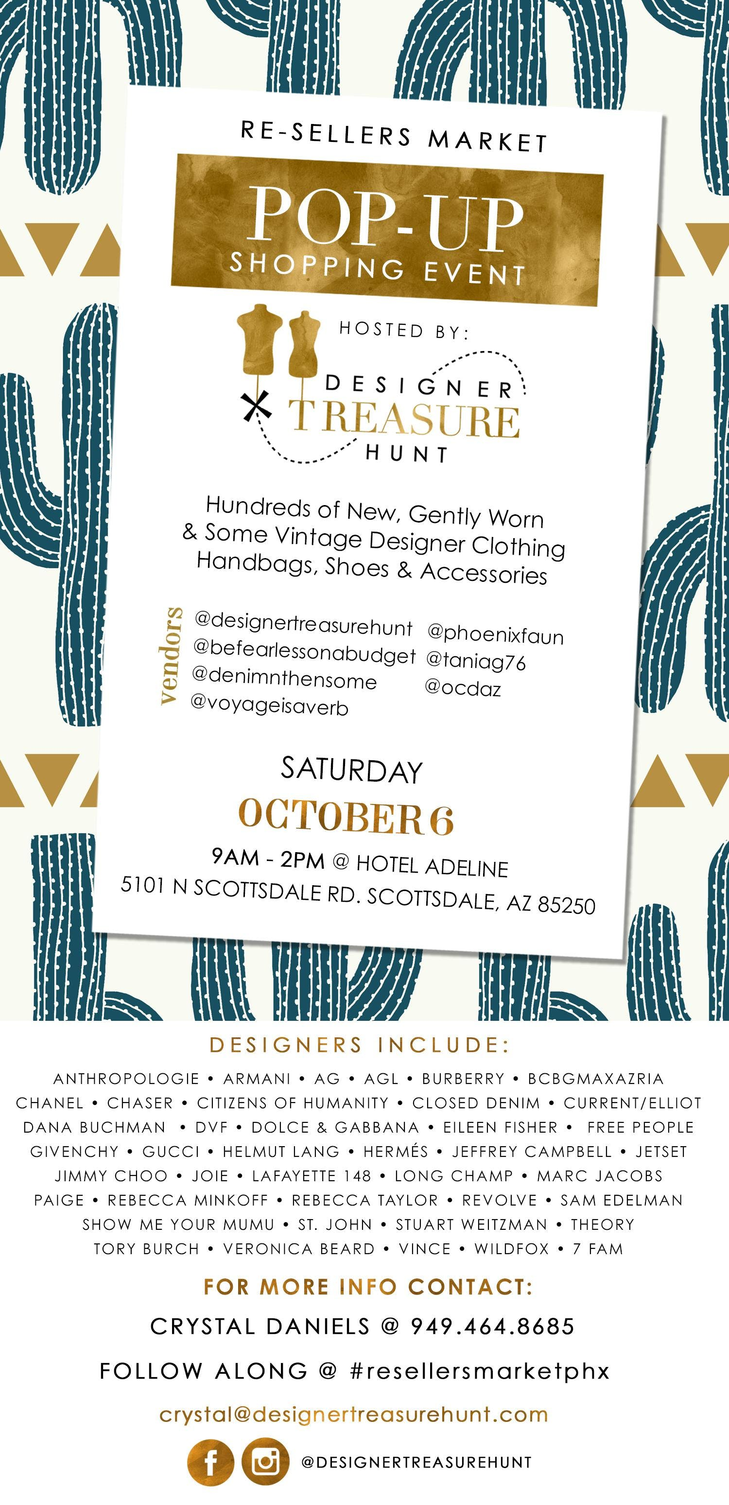 Re-seller's Market: A Pop-Up Fashion Resale Shopping Event!