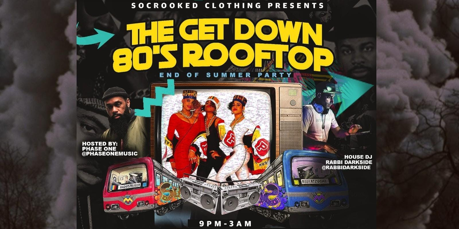 THE GET DOWN 80'S ROOFTOP END OF SUMMER PARTY
