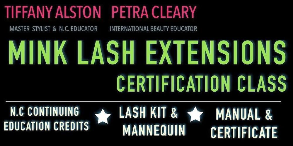 Durham Classic Mink Lash Extensions Certification Class Tickets Mon