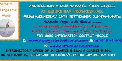 Namaste Yoga at Empire Bay