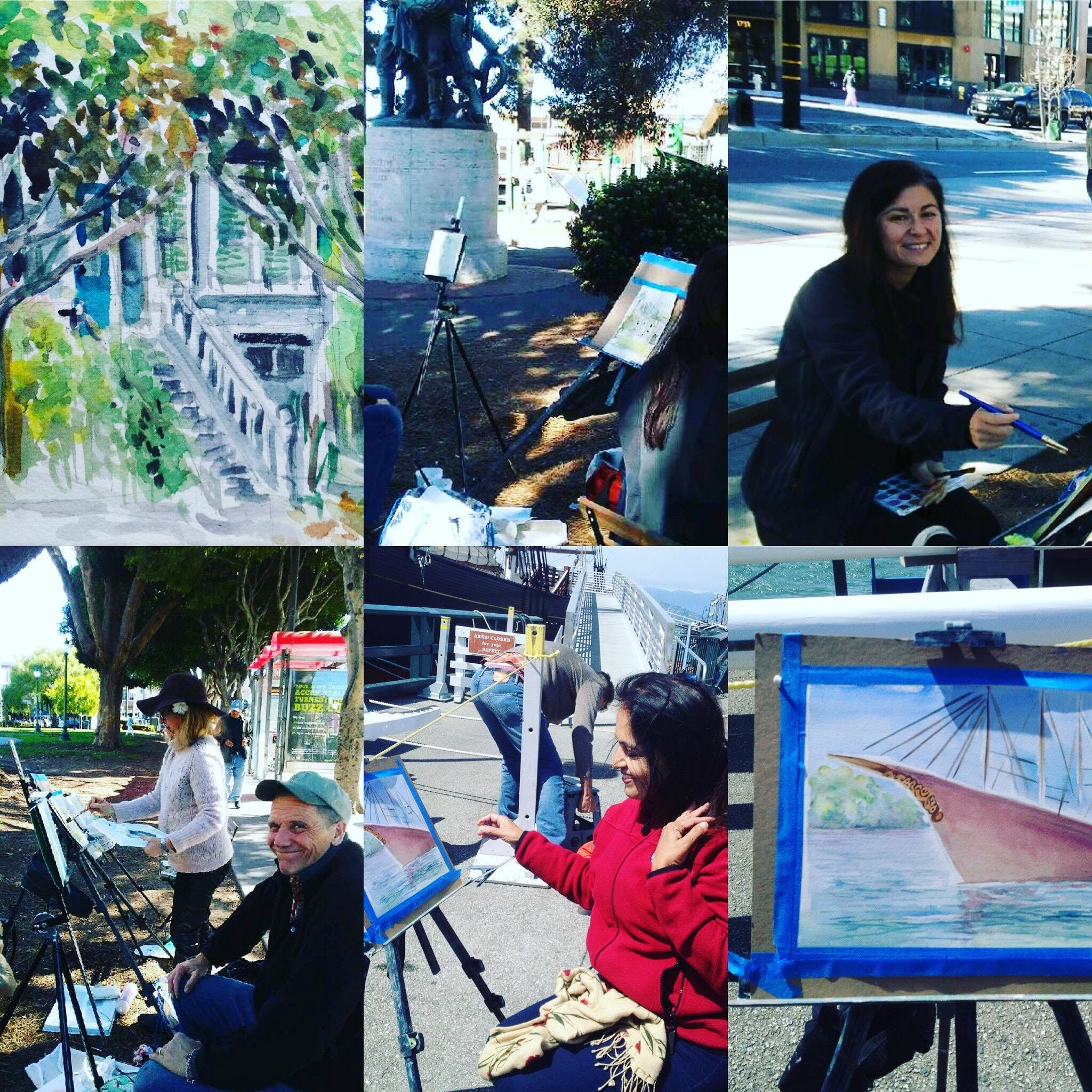 Eat Drink and Paint,Plein Air Watercolor Clas