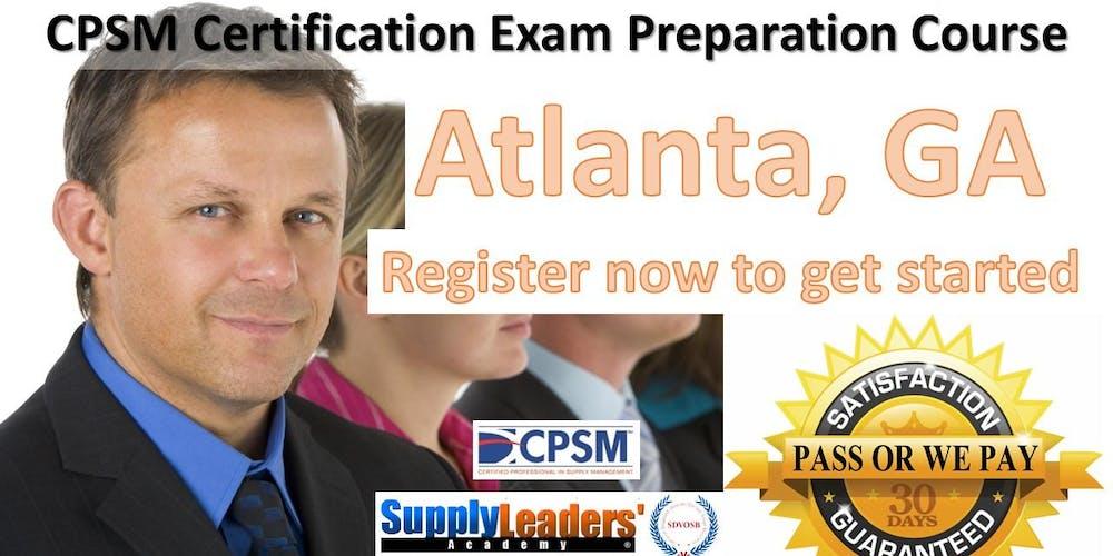 Procurement Certification Training Cpsm Boot Camp Atlanta