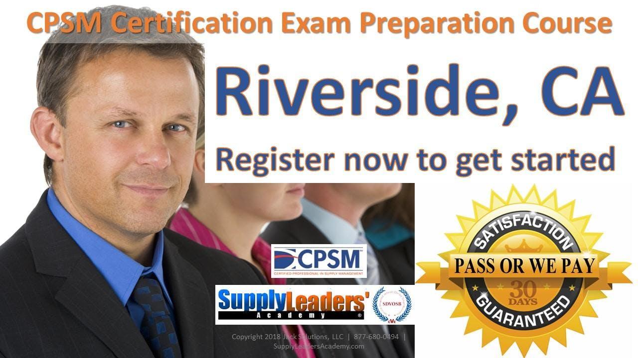 Procurement Certification Training Cpsm Boot Camp Riverside