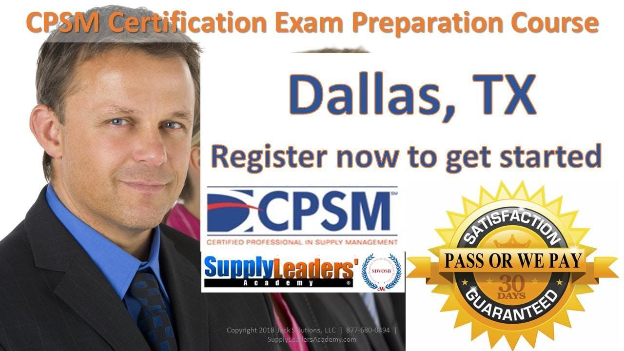 Procurement Certification Training Cpsm Boot Camp Dallas Texas