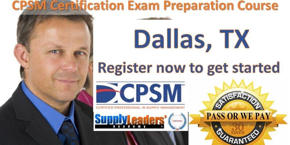 Procurement Certification Training Cpsm Boot Camp Dallas Texas