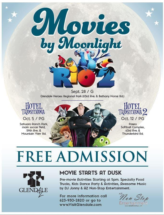 Movies by Moonlight, Food Truck Movie Night & More - Fri 10/5!