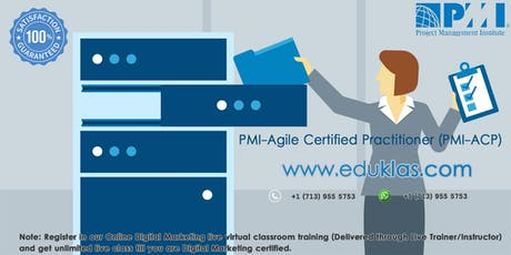 PMI ACP Certification Class | PMI ACP Training | PMI ACP Exam Prep Course | PMI ACP Boot Camp | PMI - Agile Certified Practitioner (ACP) Training in Salem, OR | Eduklas tickets