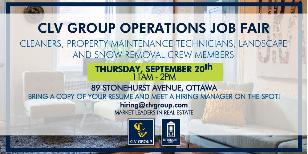 clv group operations job fair tickets thu sep 20 2018 at 11 00 am