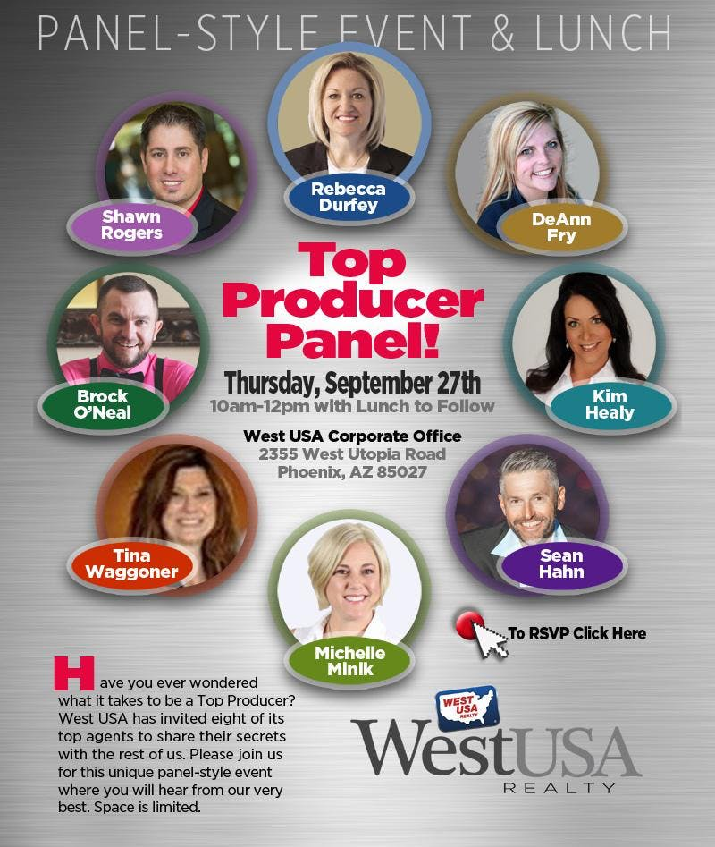 West USA Realty Top Producer Panel