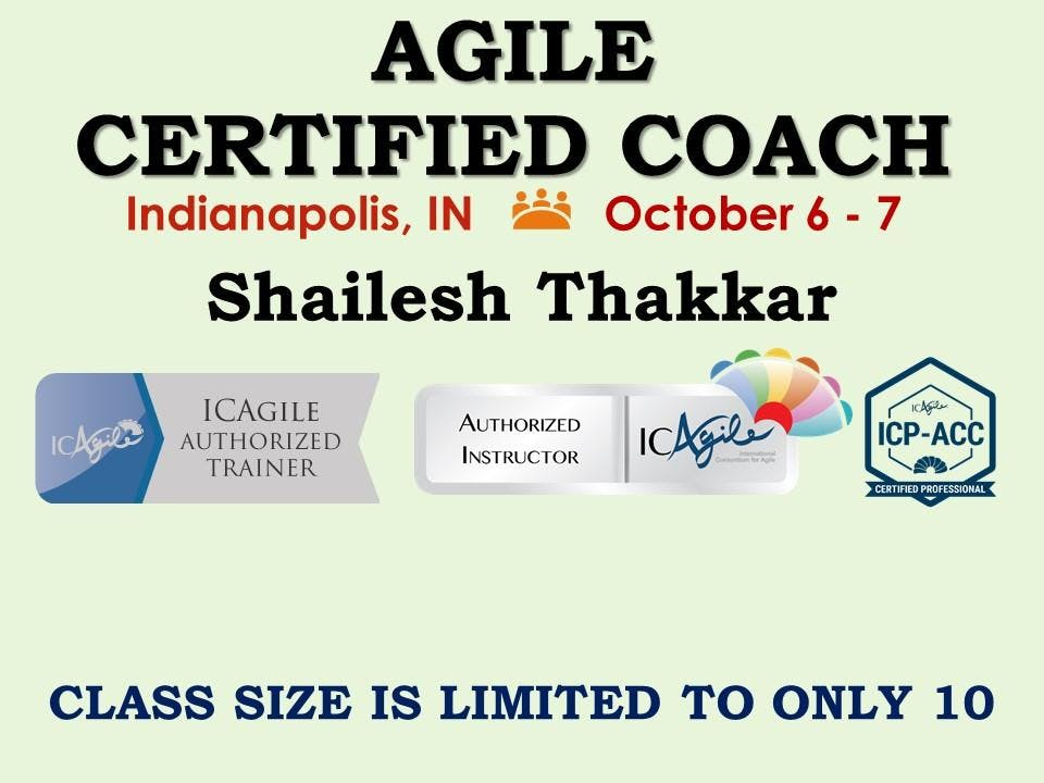 Agile Certified Coach Icp Acc Workshop 6 Oct 2018