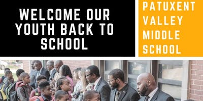 Welcome back to school - Patuxent Valley Middle School