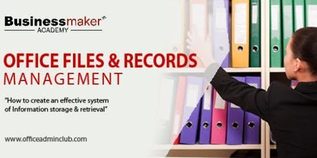 OFFICE FILES & RECORDS MANAGEMENT tickets