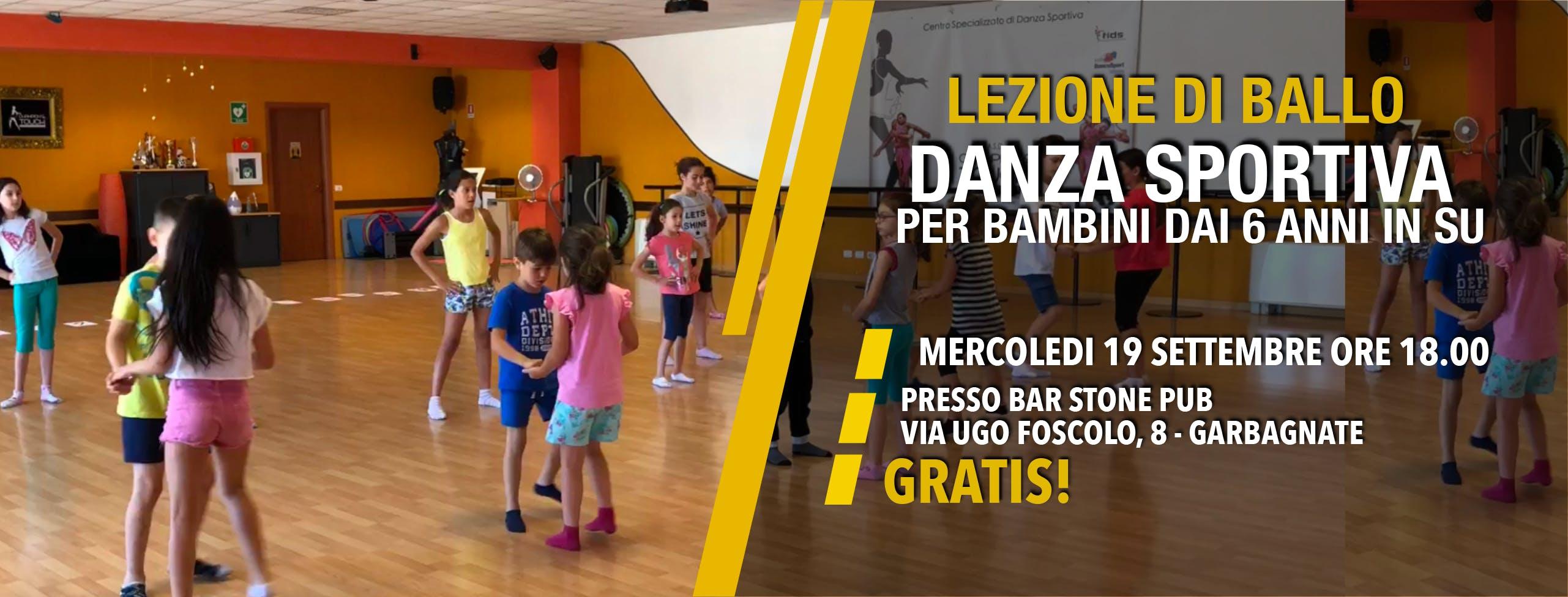 LEZIONE DI BALLO GRATIS - DANZA SPORTIVA KIDS (per bambini dai 6 anni)