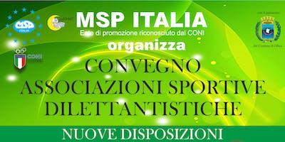 """CONVEGNO MSP ITALIA """"ASSOCIAZIONI SPORTIVE DILETTANTISTICHE: NUOVE DISPOSIZIONI""""-OLBIA"""