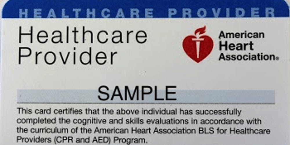 Aha Bls Health Care Provider Cpr Certification Class Tickets Sat