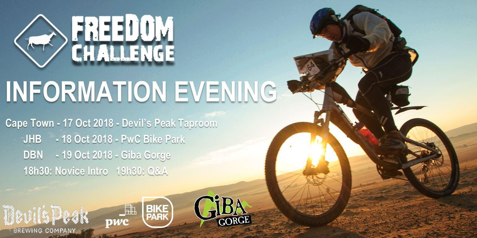 JHB - Freedom Challenge - Info Evening
