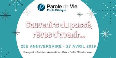 25e anniversaire de Parole de Vie Québec
