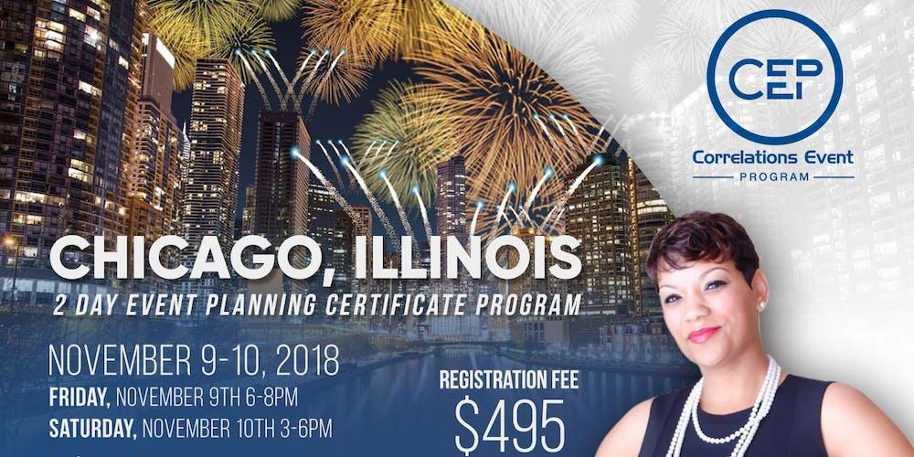 2 Day Chicago Event Planning Certificate Program November 9 10 2018